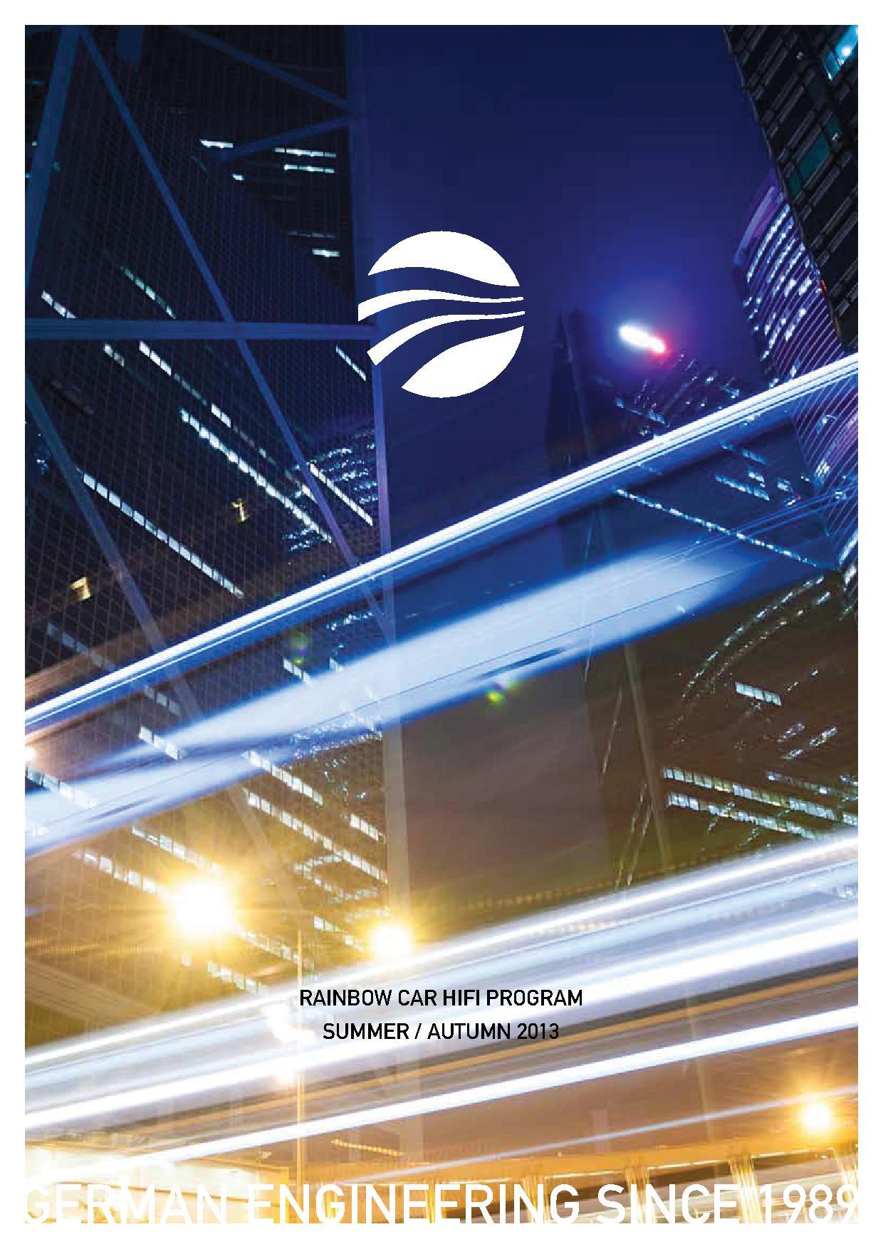 Rainbow Audio Germany Katalog