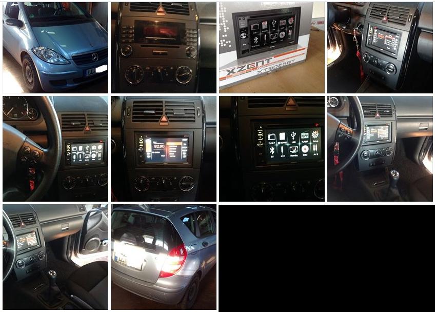 Mercedes A Klasse Doppel Din Radio
